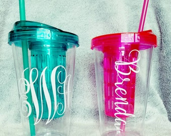 Personalized fruit fusion water tumblers.