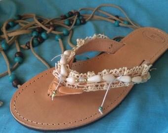 "Handmade Sandals ""ANTIGONI"""