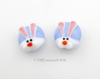 MADE TO ORDER - Bunny Pairs - Handmade Lampwork Glass Beads