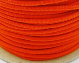 5, 10, 50 m rubber cord 3 mm orange