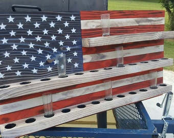 American Flag-shot glass holder
