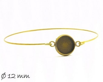 3 bracelet blanks cabochon version 12 mm bronze