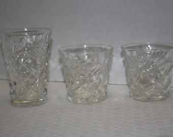 Vintage starburst glasses etsy - Starburst glassware ...