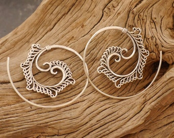 earrings silver 925, spiral earrings