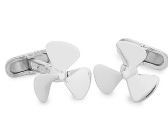 Propeller sterling Silver Cufflinks