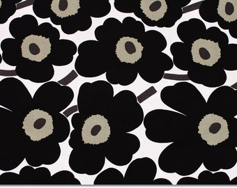 "Marimekko Mini Unikko Fabric from Finland, 30cm by 70cm or 12"" by 27.5"""