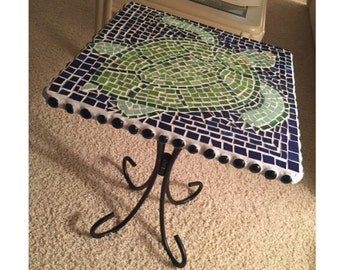 Turtle Mosaic Table