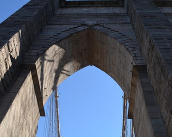 Looking up from the Brooklyn Bridge 2