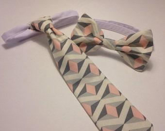 Boys cream necktie or bow tie