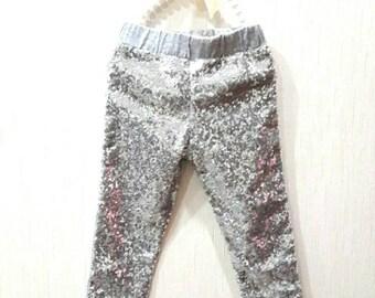 Gold sequin pants girls sequin pants sparkle leggings gold