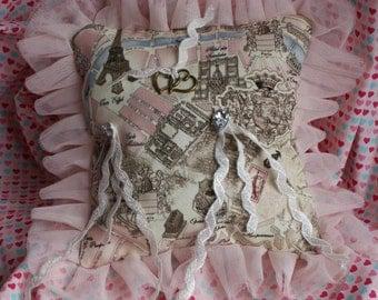 PARIS wedding pillow