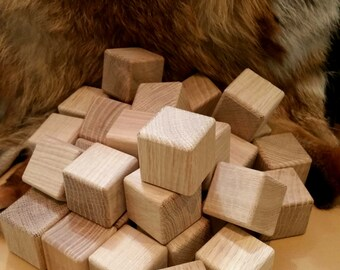 30 wooden blocks