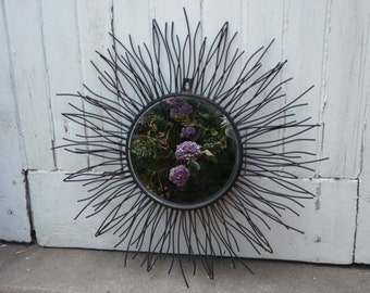Mirror wrought iron Sun