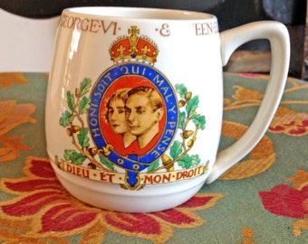 Coronation of king george vi and queen elizabeth may 1937. commemoration mug vgc