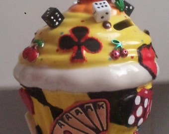 """Cupcake money box """"life is a gamble"""" – one-OFFS!"""