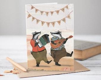 Birthday Greetings Badgers [Greetings Card]