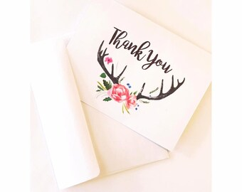 Antler Thank You Card Set of 5