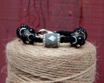 Macrame Black Hemp Bracelet