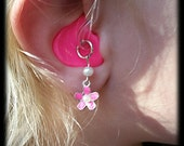 Hearing Aid Charms : Pretty Petite Flowers with Pearl Accent Bead!