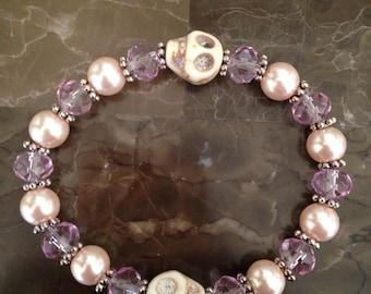 Glamour skulls bracelet