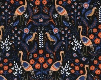 Tapestry in Black Les Fleurs
