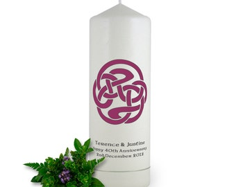 Celtic Spiral ~ Personalised Celtic Candle