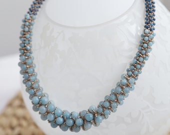 Sead bead and Natural Stone Necklace
