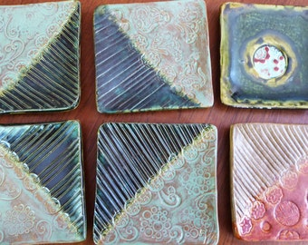Cat's Pottery Clay Soap Dishes