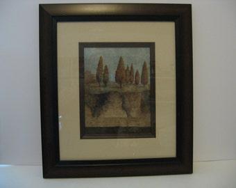Beautifully Wood Framed Picture - Garden Ridge