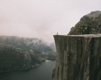 Limited edition 11x14 inch print of Preikestolen (Pulpit Rock)