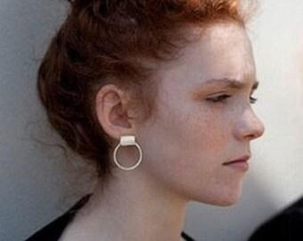 Earring, ear minimalist, geometric jewelry,