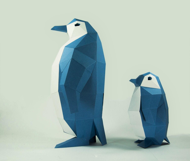 Penguin Model Penguin Paper DIY Kit 3D Papercraft Animals
