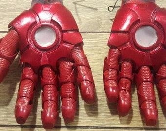 Iron man cosplay hands repulsors lights