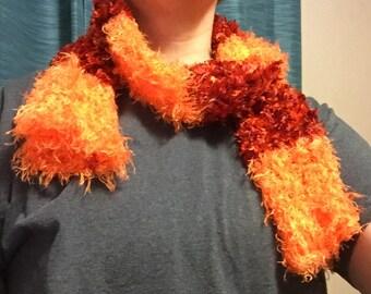 Two tone tubular scarf