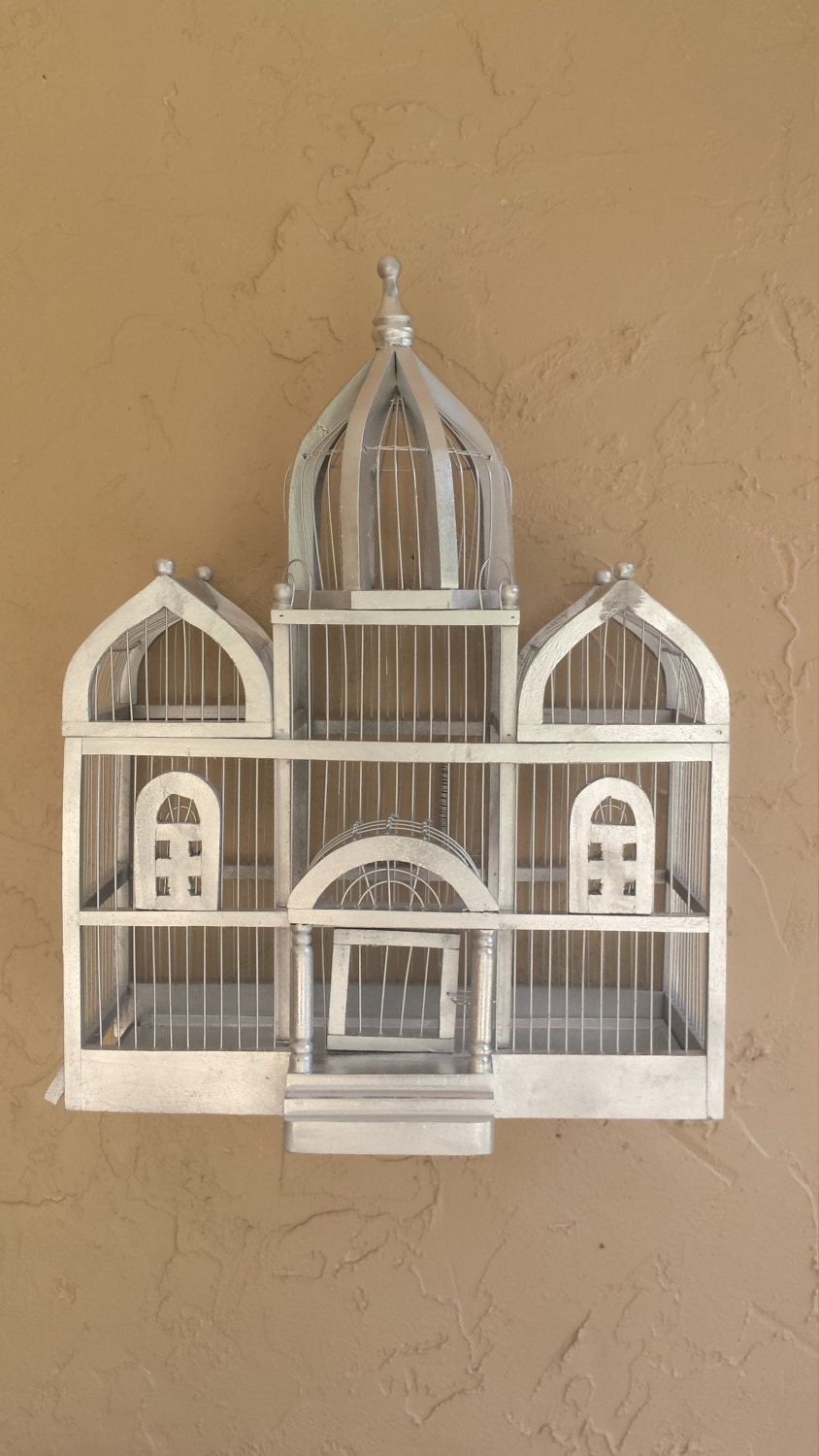 Bird cage palace style victorian bird house vintage bird for Bird house styles