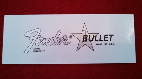 Custom Fender Bullet in Silver Metallic Waterslide Decal