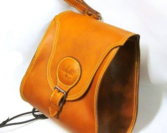 HANDMADE BACK PACK in leather
