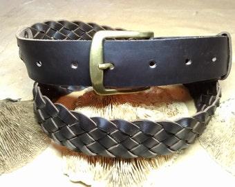 Braided leather belt. Leather belt. Braid belt. Leather braided belt. Leather belt. Braided belt. Man belt. Woman belt. Handmade belt.