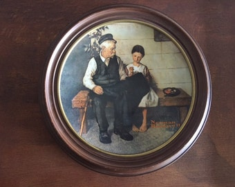 "Knowles Norman Rockwell ""The Lighthouse Keeper's Daughter,"" Numbered Collector's Plate"