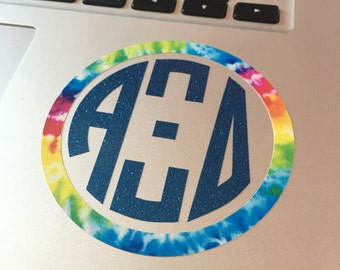 Alpha Xi Delta Circle Monogram Two Color