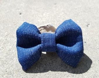 Blue Denim Bowtie