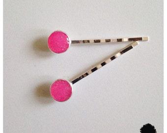 Summer Druzy Hair Pins [1 pair]