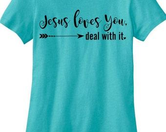 Jesus Loves You Tee, Inspirational Jesus Loves You T-Shirt