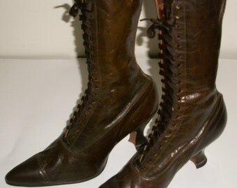 Brown Supple Victorian Boots