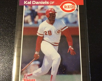 Cincinnati Reds - Kal Daniels (Outfield) 2 Cards 1987 Donruss & 1988 Leaf