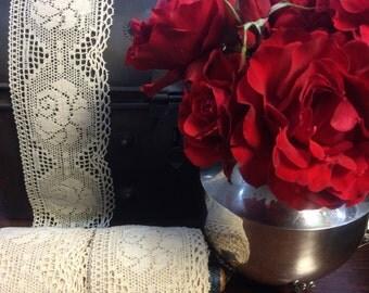 5 y _ Magnificent Five, Cotton Crochet Lace