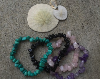Custom sized gemstone bracelets