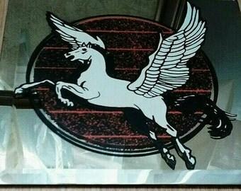 Pegasus Carnival Prize Mirror, 1980s
