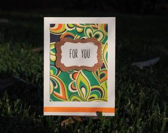 Retro Handmade Card- For You