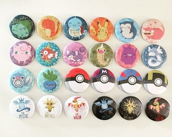 Pokemon Pins, build your own set | Pokemon Party Favors | Pokemon Birthday
